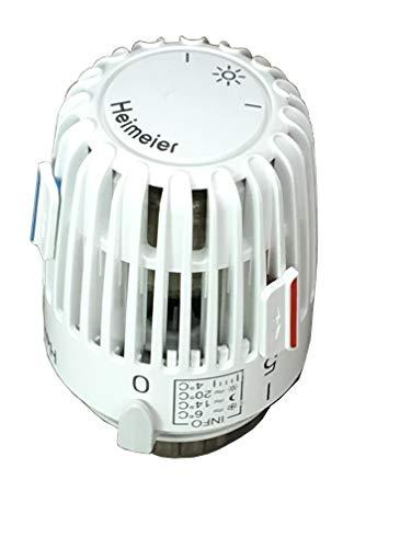 5 Stk Thermostatkopf Heimeier K 7000-00.500 0-28 °C Weiß mit 2 Sparclips inkl. Nullstellung