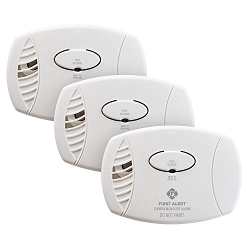 FIRST ALERT CO400-3 Carbon Monoxide Detector, Battery Operated, White , 3-Pack -CO400-3