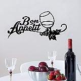 mlpnko Dibujos Animados Bon Appetit Adhesivos de Pared Vinilos Adhesivos Arte Tatuajes de Pared Decoración para el hogar, 43x86cm