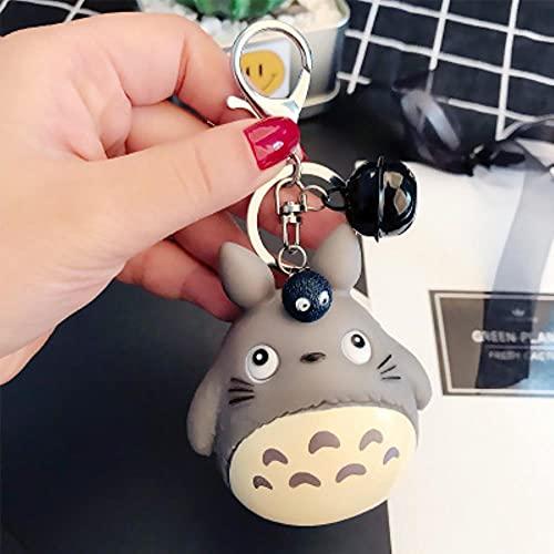 CHOUDOUFU Statue Skulptur Deko Niedlicher Totoro Tierschlüsselring Pelz Männer Oder Frauen Schlüsselbund Frauen Schmuck Metall Schlüsselanhänger Autotasche Pendent Charm