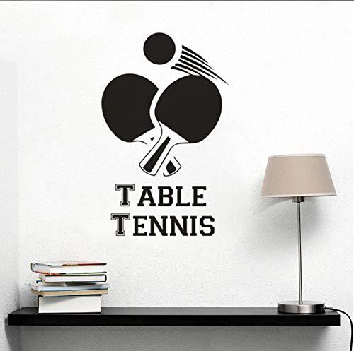 Turnhalle Sport Studio Dekoration Tischtennis Zeichen Wandaufkleber Ping Pong Sport Wandbilder Tischtennis Halle Poster 42x67cm