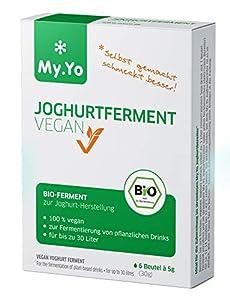 My.Yo - Bio Joghurtferment Vegan | 6x5 gr | Ferment für bis zu 30 L selbst gemachten Joghurt
