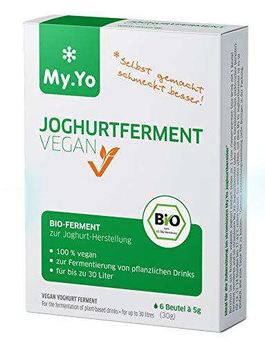 My.Yo - Ferment pour yaourt végan bio | 6x5 g | Ferment pour jusqu'à 30 L de yaourt maison