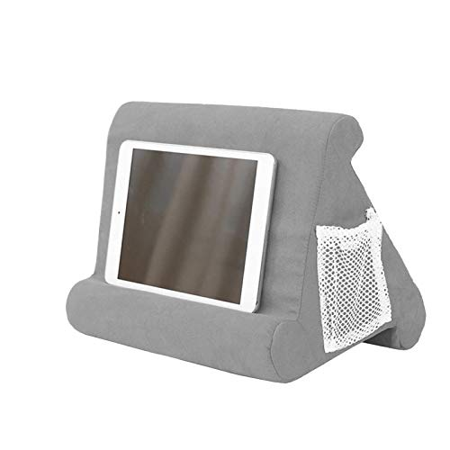 TIUENHAVU Laptop Stand Tablet Pillow Foam Desk Multi-Purpose Bracket Laptop Cooling Pad for Tablet Stand Holder Lap Rest Cushion Gray