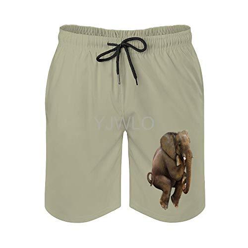 Pantalones cortos de playa de secado rápido para hombre, de Elephants-png-Image-File Blanco Estilo1 L