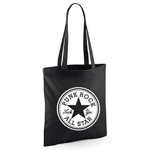 Punk Rock All Star Tasche Beutel (Schwarz)