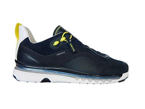 Geox Scarpa Sneaker Casual LEVITA U029XA 06K85 Tessuto a Maglia + Nappa (Navy, Numeric_39)