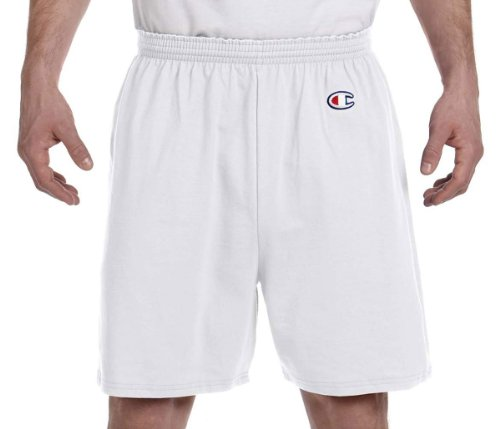 Champion Adult Cotton Gym Shorts, Silver Grey, Large