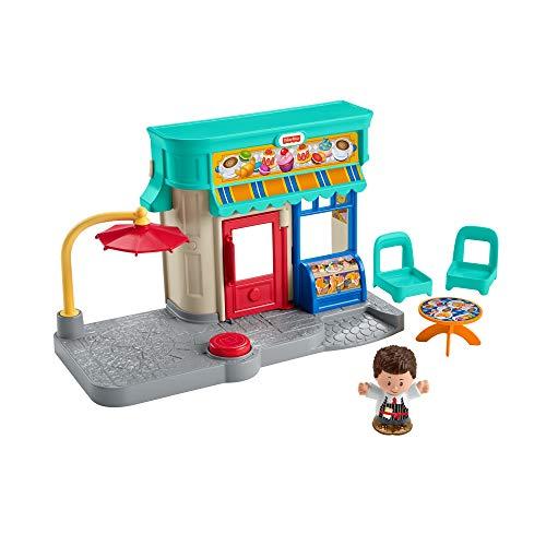 Fisher-Price GNC60 - Little People Bäckerei mit Spielfigur und Zubehör für Kleinkinder ab 1 Jahr
