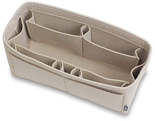 Pelikus Felt Purse and Tote Organizer Insert/Sturdy Structured Handbag Shaper 6 Sizes (Large–Slender, Beige)