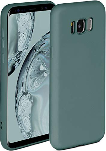 ONEFLOW Soft Hülle kompatibel mit Samsung Galaxy S8 Hülle aus Silikon, erhöhte Kante für Displayschutz, zweilagig, weiche Handyhülle - matt Petrol