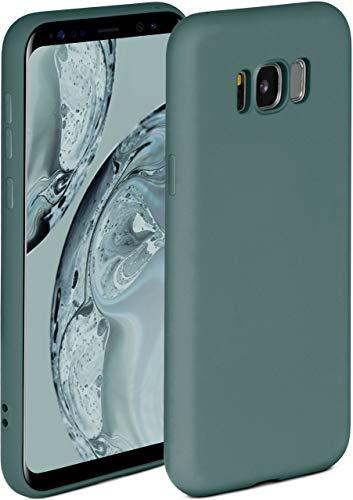 ONEFLOW Soft Case kompatibel mit Samsung Galaxy S8 Hülle aus Silikon, erhöhte Kante für Bildschirmschutz, zweilagig, weiche Handyhülle - matt Petrol