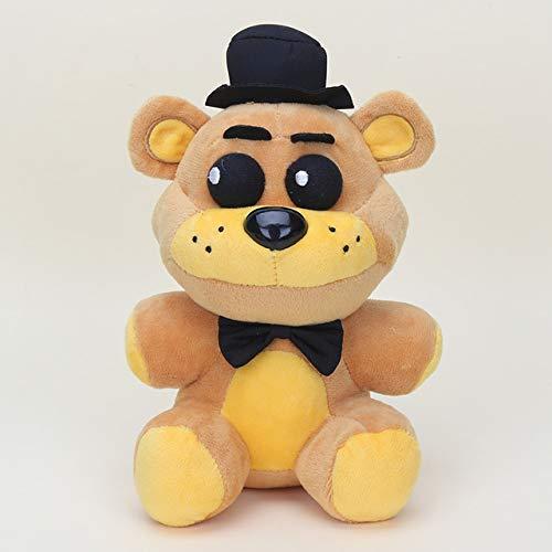25cm Five Nights At Freddy's FNAF Pluche Doll Freddy Bear Foxy Chica Bonnie knuffels Kid Kinderen Dolls Kids Gift, goud Freddy 25cm