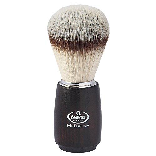 Omega Brosse à raser en fibre synthétique Hi Brush – 176 g