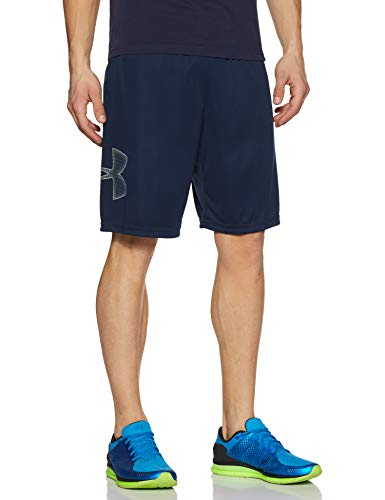 Under Armour Men's Tech Graphic Shorts , Academy Blue (409)/Steel , Large