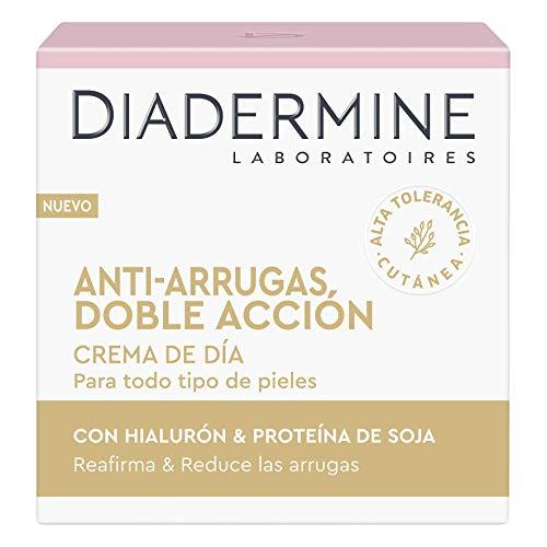 Diadermine - Cuidado Esencial, Crema de día Antiarrugas, 50 ml, Reduce las arrugas, Reafirma la piel, para todo tipo de pieles