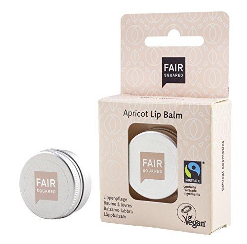 FAIR SQUARED Lippenbalsam | Vegane Zertifizierte Naturkosmetik | Faitrade (Aprikose Sensitive)