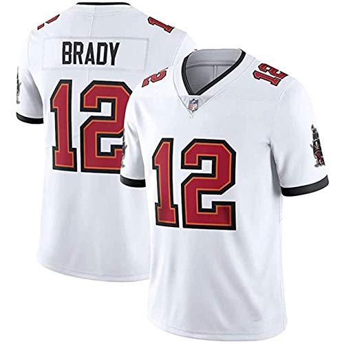Brady Jersey 12# Rugby para Hombres Tampa Juego Sportswear Uniforme Estudiante Transpirable Moisture Wicking XXXL