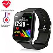 Fitness Tracker, Waterproof Smart Watch Color Screen Activity Tracker with Heart Rate Monitor Watch, Fitness Watch with Calorie Counter Pedometer Sleep Blood Pressure Monitor for Kids Women Men