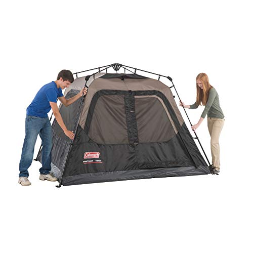 Coleman Cabin Tent with Instant Setup | Cabin Tent for Camping Sets Up in 60 Seconds, 4-Person