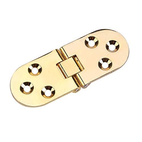 Aleación de zinc Aleta Bisagra Mesa plegable Máquina de coser Mesa Plegable Flip Top Bisagra Latón macizo Bandeja de mayordomo Bisagra Tapa de bisagra de solapa Muebles, 80 * 30 mm ( Color : Oro )