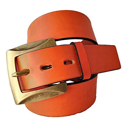 Cinturón Mujer - Piel legítima - 4 cm de ancho - Hebilla...