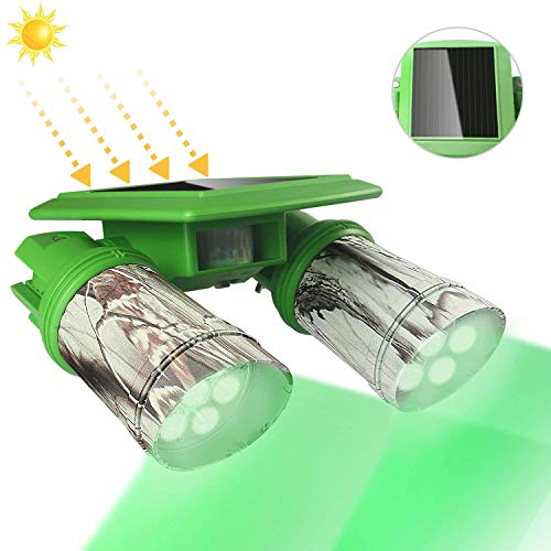 TRAIL WATCHER Deer Feeder Light Hog Hunting Green Light Spotlight PIR Motion Sensor 120°Angle IP65 Waterproof Outdoor Animal Game Feeder Cage