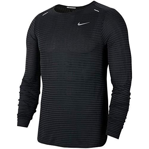 Nike Herren CJ5346-010 Bluse, Black/Dk Smoke Grey/Reflective Silv, L