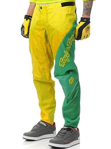 Troy Lee Designs Sprint Pants-Green/Yellow, 36 cm