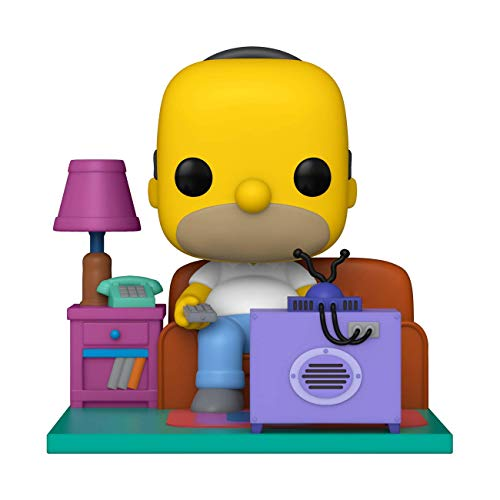 Funko 52945 POP Deluxe: The Simpsons-Homer Watching TV, Multicolour