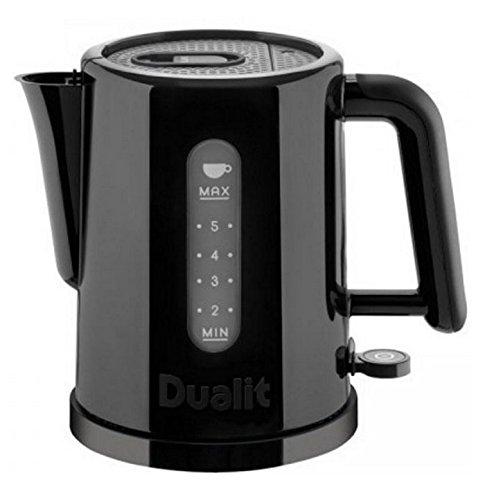 Dualit Studio - Tetera eléctrica (1,5 L, 2400 W, Negro, Indicador de nivel de agua, Filtrado)