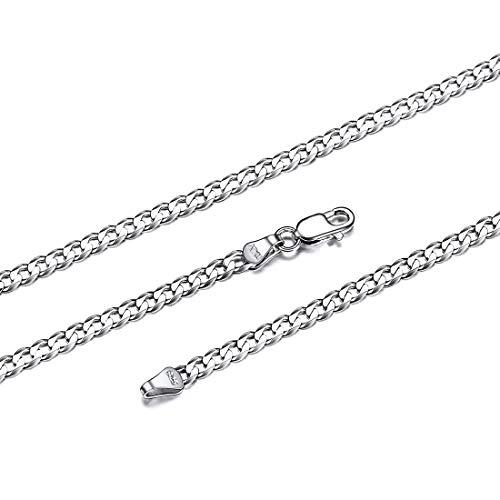ChicSilver 925er Silber Panzerkette 71 cm lang Damen männliche Halskette mit Geschenkebox für Sie und Ihr Geliebt