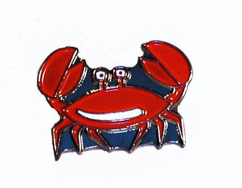 Mainly Metal Pin en métal émaillé, Insigne Broche Crabe Cancer (Nemo : Jacques)