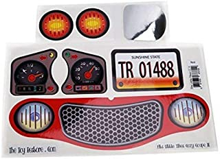 The Toy Restore New Replacement Decals Fits Little Tikes Cozy Coupe II Ride on Red