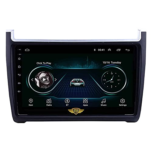 """Ateen Skoda Rapid 9"""" inch Double din Android Music System/Player/Stereo with 2GB Ram/16GB ROM/Bluetooth/Navigation/USB/Radio System/Split Screen/Mirror Link Support iOS/Android"""