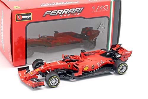 Bburago - Modellino Ferrari SF90, 1:43, Charles Leclerc n°16, Gran Premio d'Australia 2019