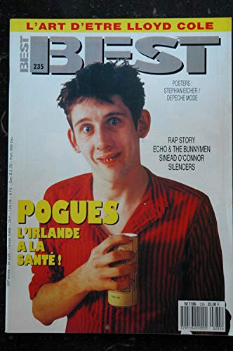 BEST 235 février 1988 POGUES RAP STORY Echo &the Bunnymen Silencers Sinead O\'Connr + POSTERS STEPHAN EICHER DEPECHE MODE