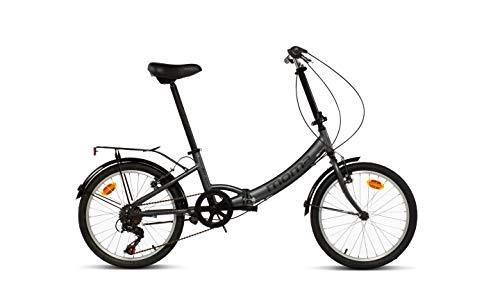 MOMA BIKES Erwachsene BIFCL2GUN Falträder First Class 20″, Aluminium, Shimano 6v, Sattelkomfort, grau, Unic Size - 2