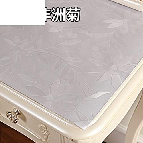 KMILE Cómoda Mantel Impermeable de Vidrio Suave Estilo Europeo PVC TV Gabinete de algodón Mantel desechable Noche Mesa de Mesa-E 20x63inch (Color : L, Size : 50x100cm(20x39inch))