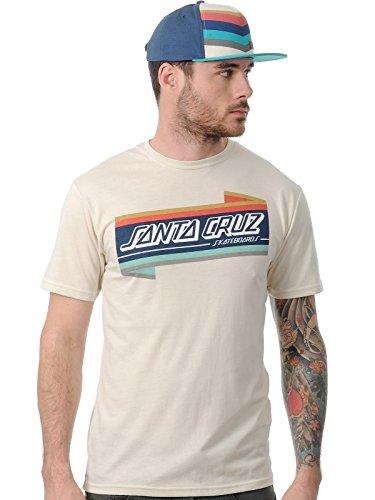 SANTA CRUZ Strip Label T-Shirt Homme, Natural Heather, FR : L (Taille Fabricant : L)