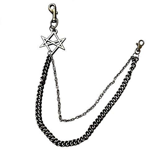Sourcemall - Cadena para pantalones de hip hop, estilo punk, de bronce antiguo, cadena para pantalones, cadena