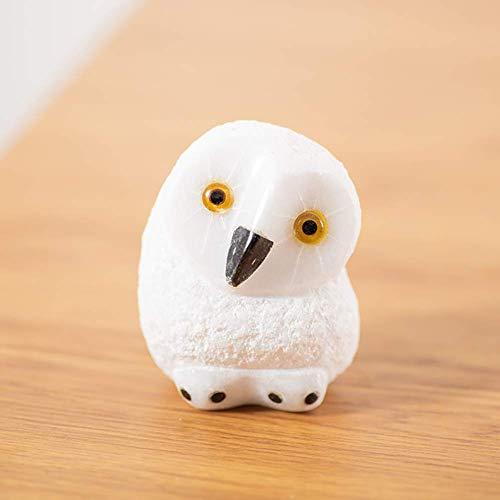 APAN 3D Mini Owl Figurine,Toy Miniature Figurines,Fairy Garden Animals,Micro Landscape Plant Pots Bonsai Craft Decor A 7x6cm(2.8x2.4inch)