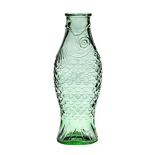 Serax - Flasche in Fischform - Glas - transparent grün - 1 Liter