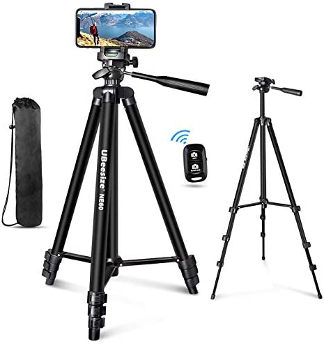 UBeesize 60 Phone Tripod with Carry Bag Cell Phone Mount Holder for Live Streaming Extendable product image