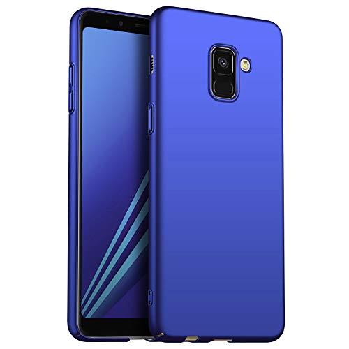 N+A Amosry Funda Samsung Galaxy A8,Absorción de Golpes Anti-Rasguños PC Esmerilado Funda Protectora para,Mate para Samsung Galaxy A8 (Azul)