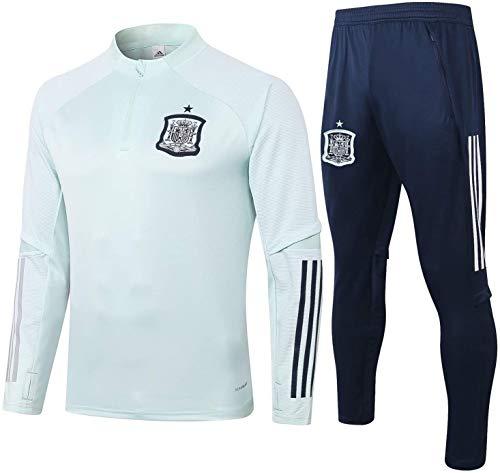 EW y HU Traje for hombre de la competencia Top + pantalones Oficial de fútbol Regalo España chándales conjunto de fútbol del equipo del club Uniforme traje de entrenamiento de manga larga (Size : S)