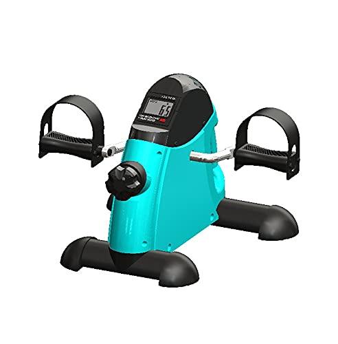 tjz Cyclette, Mini Attrezzo Ginnico Motorizzato per Pedali Gambe E Braccia, Resistenza Regolabile con Display LCD per Sedersi, Esercizio di Recupero del Braccio E del Ginocchio Unisex (Color:Green)