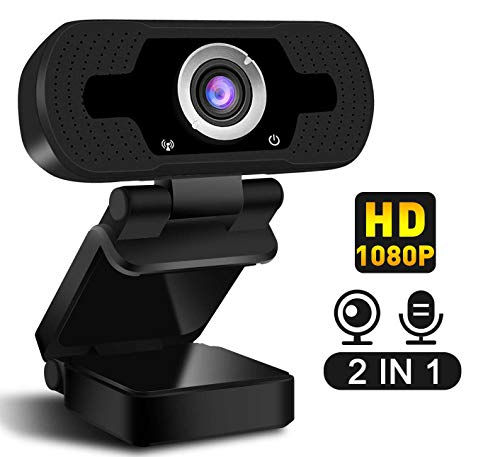 Lovebay 1080P Full HD Webcam Computer Laptop Camera for Live Class Conference Rotatable Video Camera USB Plug and Play Video Calling,Built-in Mic