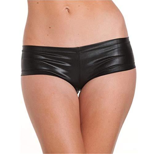 Flydo Hot Pants para Mujer, Cierre Hermético,Panty Excitante Metálico...
