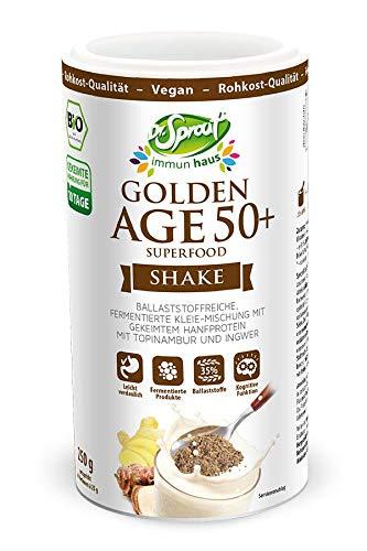 BIO Multivitamin GOLDEN AGE 50+ Umfangreicher Komplex aus gekeimten & fermentierten BIO-Samen 250g • HOCHDOSIERTE Vitamine Mineralstoffe & Spurenelemente • ideal für Menschen ab 50 • BIOVERFÜGBAR